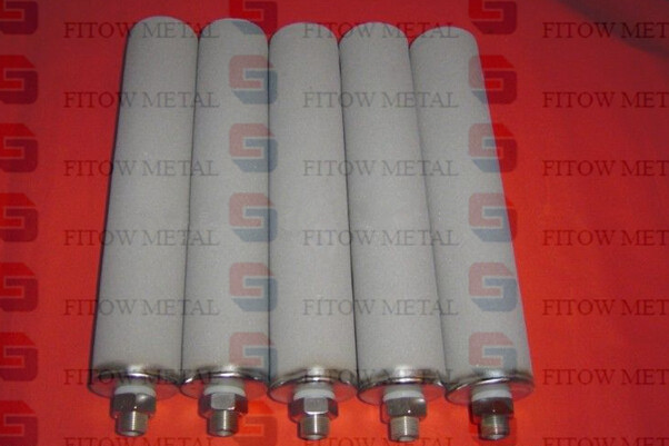 Sintered metal powder porous filter cartridge OD60*3*508