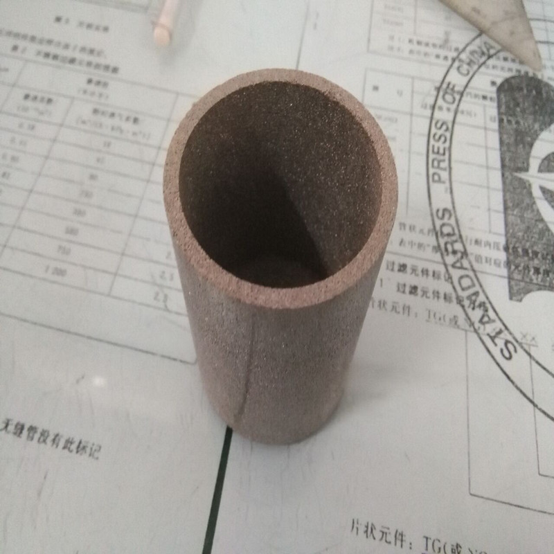 Sintered porous stainless steel strainer pipe OD45